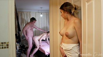 The Lady At The Strong And His Sister Watch As She Fucks A Wife Xxx Pussy