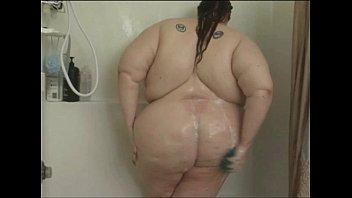 Fett Babe Seifen Sich Unter Der Dusche
