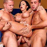 The Brunette Makes Punching Out With The 2 Guys Left By The Cleaner