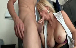 A Blonde Gets A Cock Long And Thick