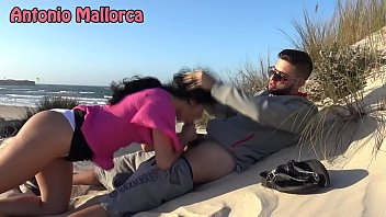 Brunette Sucks Cock On The Beach Of A Rich Tourist