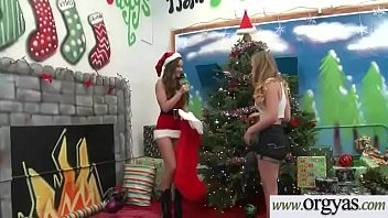 Ryan Grey Paint As A Chrismas Star Get On Pink Dildo On Top Of Tree
