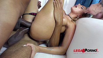 Free Porn Online, Blonde Chick Fucked By 4 Dicks Huge